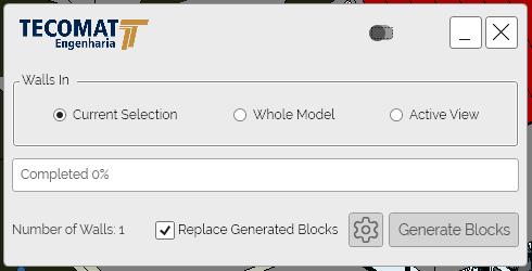 Tecomat Revit Add-in User Interface